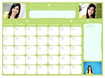 Geometric Fun Dry Erase Calendars Dry Erase Calendar - Front