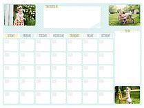 Polka Aqua Dry Erase Calendars Dry Erase Calendar - Front