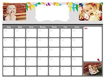 Option Dry Erase Calendars Dry Erase Calendar - Front