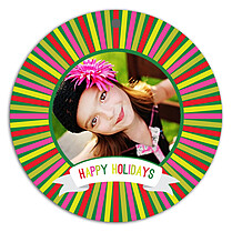 Colorful Holiday Holiday Ornaments - Front