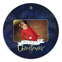 Dark Pine Midnight Christmas Holiday Ornaments - Front