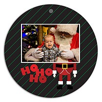HoHoHo Christmas Holiday Ornaments - Front