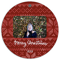Holiday Sweater Red Christmas Holiday Ornaments - Front