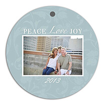 Peace Love Joy Holiday Holiday Ornaments - Front