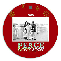 Polka Peace Holiday Holiday Ornaments - Front