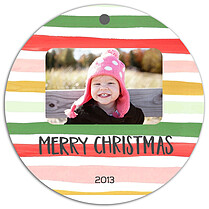 Ornament Stripes Christmas Holiday Ornaments - Front