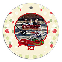 Wonderful Season Holiday Holiday Ornaments - Front