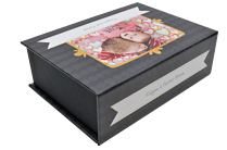 Gum Drops Black Keepsake Box - Front
