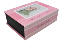 Precious Girl Pink Keepsake Box - Front