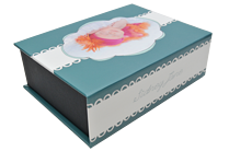 Ribbon Aqua Keepsake Box - Front