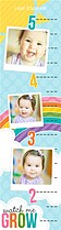 Rainbow Sky Kids Growth Chart - Front