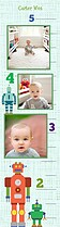 Robot Friends Kids Growth Chart - Front