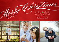 Best Wishes Christmas Magnets - Front