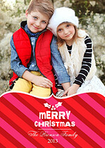 Merry Stripes Christmas Cards - Front