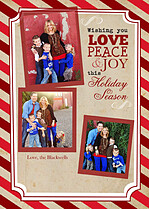Warm Wishes Holiday Magnets - Front