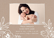 Arts And Kraft Birth Announcements Magnets - Front