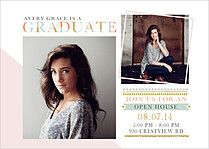 Chic And Sleek Graduation Magnets - Front