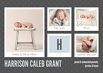 Photo Shoot Fun Birth Announcements Magnets - Front