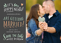 It's Happening Date Wedding Magnets - Front