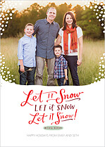 Let It Snow Holiday Magnets - Front