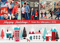 Mountain Town Holiday Magnets - Front