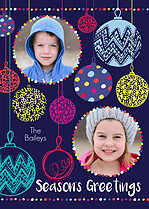 Bauble Dance Holiday Magnets - Front
