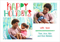 Blissful Holiday Holiday Magnets - Front