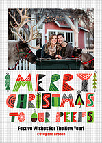 Christmas Peeps Christmas Magnets - Front