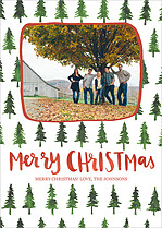 Crafty Trees Christmas Magnets - Front