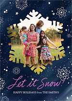 Evening Snowfall Holiday Magnets - Front