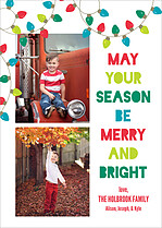 Festive Strands Holiday Magnets - Front