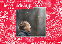 Fresh Powder Holiday Magnets - Front