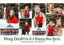 Greeting Montage Christmas Magnets - Front