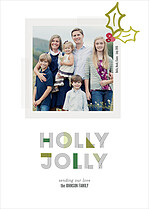Holly Frill Holiday Magnets - Front