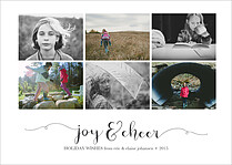 Joy And Cheer Holiday Magnets - Front