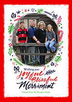 Joyful Merriment Holiday Magnets - Front