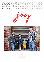 Joyous Winter Holiday Magnets - Front