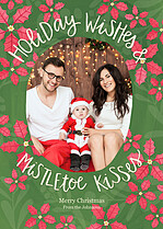 Mistletoe Kisses Holiday Magnets - Front