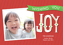 Overflowing Joy Holiday Magnets - Front
