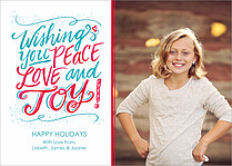 Peaceful Blizzard Holiday Magnets - Front