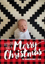 Perfect Plaid Christmas Magnets - Front