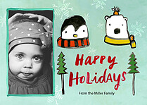 Polar Place Holiday Magnets - Front