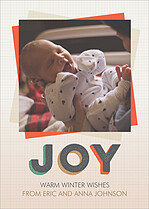 Sprinkled Joy Gray Holiday Magnets - Front