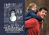 Winter Wonderland Blue Holiday Magnets - Front