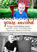 Invited Red Birthday Magnets - Front