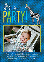 It's A Party Birthday Magnets - Front