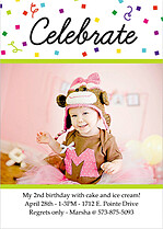 Celebrate Confetti Birthday Magnets - Front