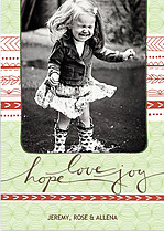 Hope Love Joy Green Holiday Magnets - Front