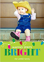 Making Spirits Bright Holiday Magnets - Front