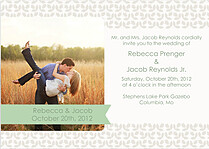 Floral Invitation Sage Wedding Magnets - Front